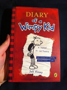 Ik las Diary of a Wimpy Kid van Jeff Kinney